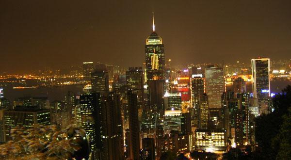 太平山顶夜景鸟瞰图