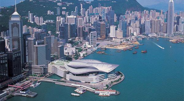 香港_香港会展中心鸟瞰图