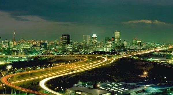 约翰内斯堡夜景图