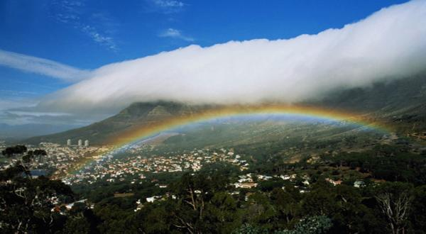 桌山彩虹图