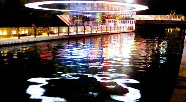 心斋桥商业街夜景图