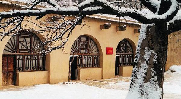 延安革命纪念馆雪景