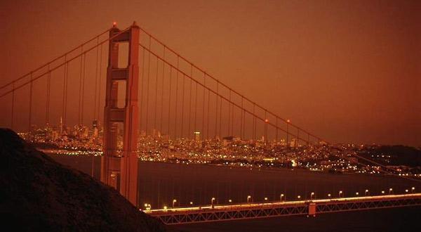 金门大桥夜晚美景