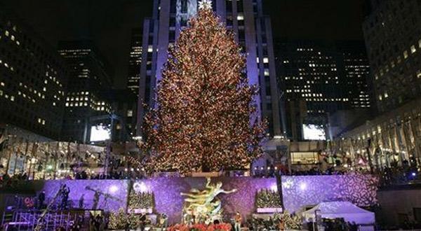洛克菲勒广场最大的圣诞树