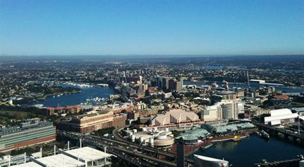 悉尼塔眺望悉尼市景