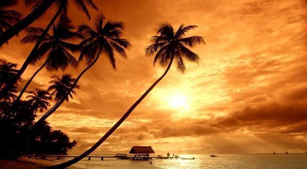 夏阳下的长滩岛