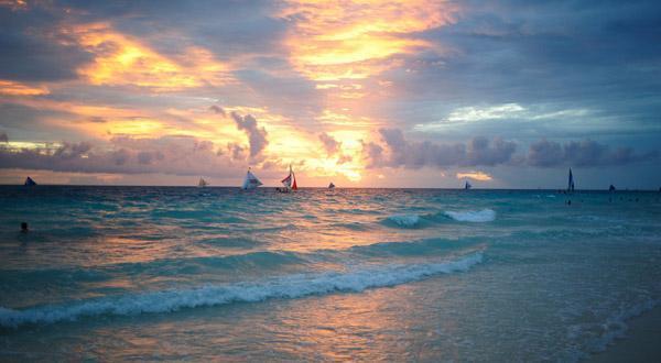 长滩岛日落风光