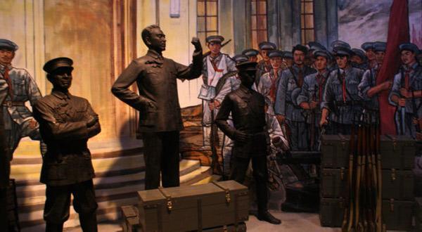 博物馆-南昌起义的雕塑