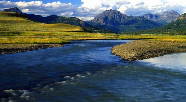 黄石国家公园景区图