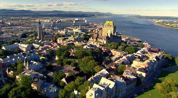 魁北克古城风景