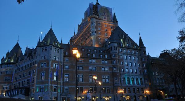魁北克古城一景