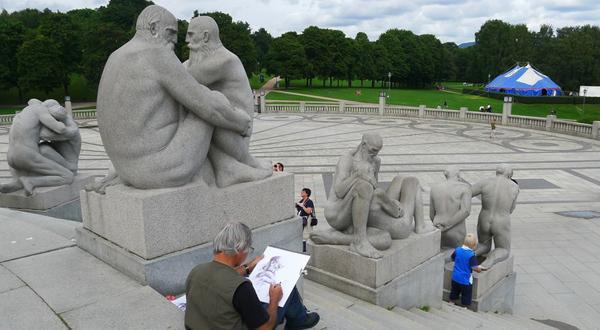 维格兰雕塑公园一景
