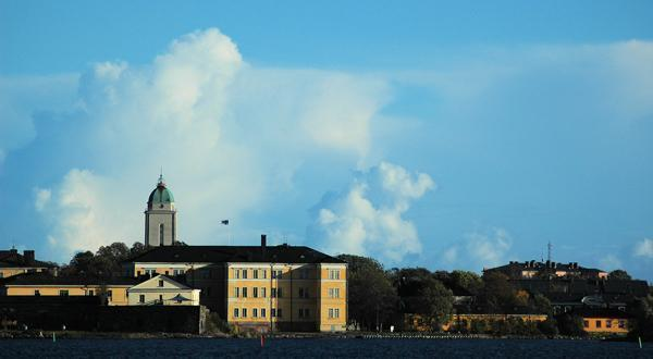 芬兰岩石教堂美景