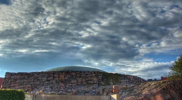 芬兰岩石教堂一角