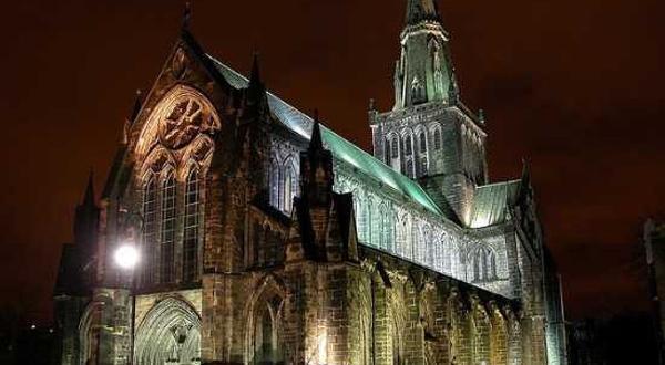 格拉斯哥大教堂夜景